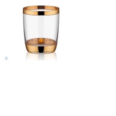 Koleksiyon Shah 6 Lı Parlak Altın Kahve Yanı Su Bardağı Altın